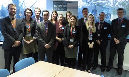 Group of Business PGCE students wearing suits