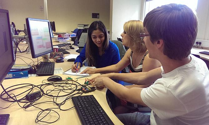 PGCE Computer Science students working with Raspberry Pi