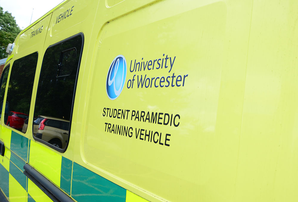 Ambulance with Student Paramedic Training Vehicle decal