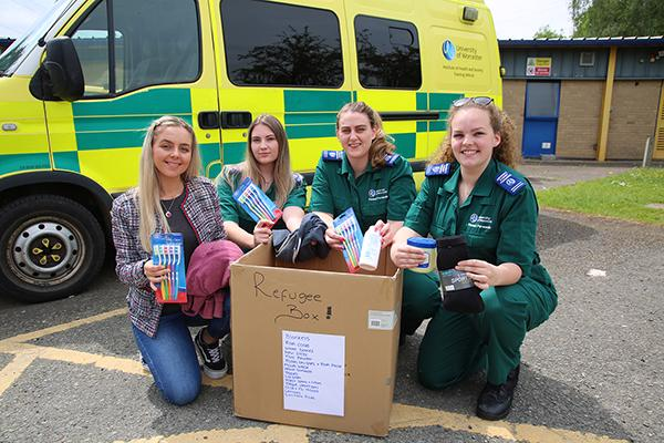 Paramedic students refugee appeal