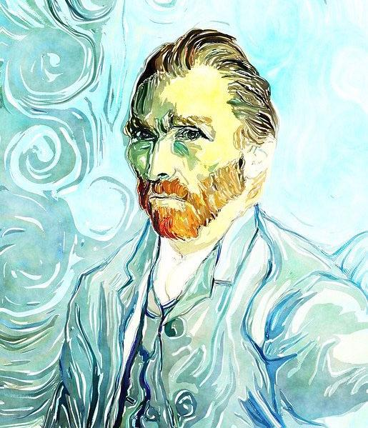 A computer copy of a Vincent Van Gogh self portrait