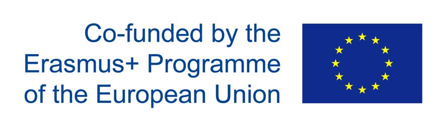 "The symbol for the European Union next to the words ""Co-funded by the Erasmus+ Programme of the European Union"""
