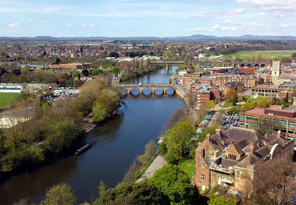 The River Severn aerial view - see it at a University Open Day