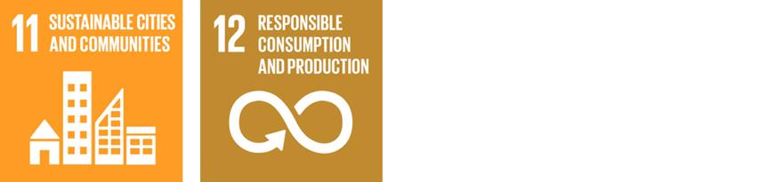 The SDG logos for 11.Sustainable Cities and Communities and 12.Responsible Consumption and Production
