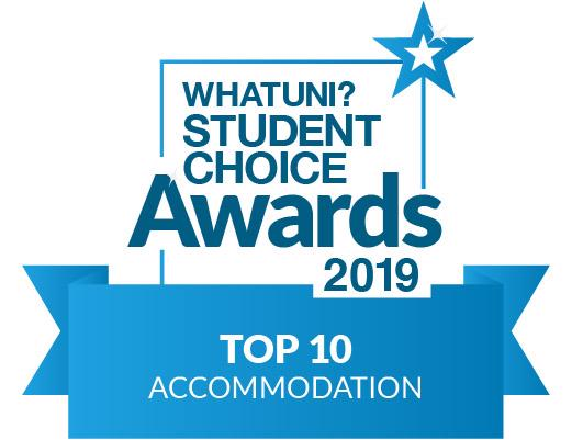WhatUni Student Choice Awards 2019 - Top 10 Accommodation