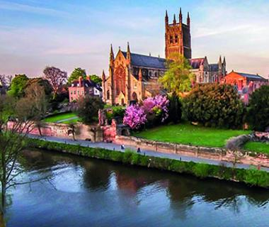 worcester cathedral by the river